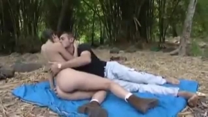 Cock sucking blonde is put in possitions with dudes