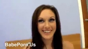 Pretty girl got fucked instead of having her boyfriend, for the first time ever, in her bedroom